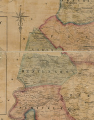 North Huntingdon Township, Pennsylvania 1857 Old Town Map Custom Print - Westmoreland Co.