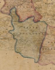 South Huntingdon Township, Pennsylvania 1857 Old Town Map Custom Print - Westmoreland Co.