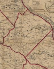Chanceford Township, Pennsylvania 1860 Old Town Map Custom Print - York Co.