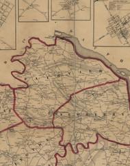 Fairview Township, Pennsylvania 1860 Old Town Map Custom Print - York Co.