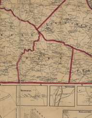 Fawn Township, Pennsylvania 1860 Old Town Map Custom Print - York Co.