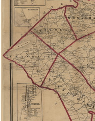 Franklin Township, Pennsylvania 1860 Old Town Map Custom Print - York Co.