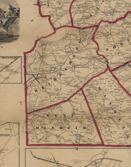 Heidelberg Township, Pennsylvania 1860 Old Town Map Custom Print - York Co.