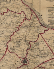 Manchester Township, Pennsylvania 1860 Old Town Map Custom Print - York Co.