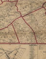 Manheim Township, Pennsylvania 1860 Old Town Map Custom Print - York Co.