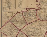 Monaghan Township, Pennsylvania 1860 Old Town Map Custom Print - York Co.