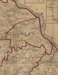 Newberry Township, Pennsylvania 1860 Old Town Map Custom Print - York Co.