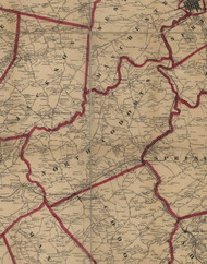 North Codorus Township, Pennsylvania 1860 Old Town Map Custom Print - York Co.