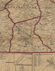 Shrewsbury Township, Pennsylvania 1860 Old Town Map Custom Print - York Co.