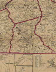 Shrewsbury Township, Pennsylvania 1860 Old Town Map Custom Print - York Co.