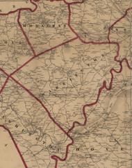 Warrington Township, Pennsylvania 1860 Old Town Map Custom Print - York Co.