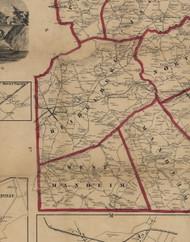 West Manheim Township, Pennsylvania 1860 Old Town Map Custom Print - York Co.