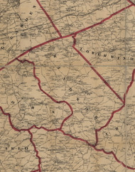 Windsor Township, Pennsylvania 1860 Old Town Map Custom Print - York Co.