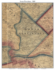 Lower Providence Township, Pennsylvania 1860 Old Town Map Custom Print - Montgomery Co.