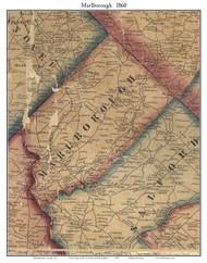 Marlborough Township, Pennsylvania 1860 Old Town Map Custom Print - Montgomery Co.