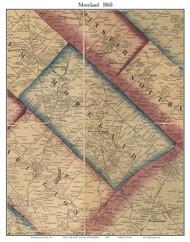 Moreland Township, Pennsylvania 1860 Old Town Map Custom Print - Montgomery Co.
