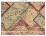 Springfield Township, Pennsylvania 1860 Old Town Map Custom Print - Montgomery Co.
