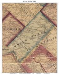 White Marsh Township, Pennsylvania 1860 Old Town Map Custom Print - Montgomery Co.