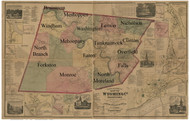 Towns on Source Map - Wyoming Co., Pennsylvania 1869 - NOT FOR SALE - Wyoming Co.
