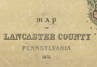 Title of Source Map - Lancaster Co., Pennsylvania 1851 - NOT FOR SALE - Lancaster Co.