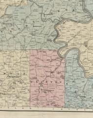 Clinton Township, Pennsylvania 1865 Old Town Map Custom Print - Venango Co.