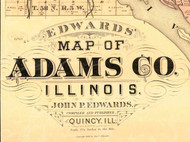 Title of Source Map - Adams Co., Illinois 1889 Old Town Map Custom Print - Adams Co.