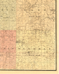 Beverly, Illinois 1889 Old Town Map Custom Print - Adams Co.