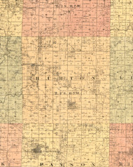 Burton, Illinois 1889 Old Town Map Custom Print - Adams Co.