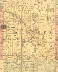 Columbus, Illinois 1889 Old Town Map Custom Print - Adams Co.