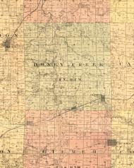 Honey Creek, Illinois 1889 Old Town Map Custom Print - Adams Co.