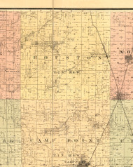 Houston, Illinois 1889 Old Town Map Custom Print - Adams Co.