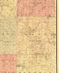 McKee, Illinois 1889 Old Town Map Custom Print - Adams Co.