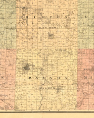 Payson, Illinois 1889 Old Town Map Custom Print - Adams Co.