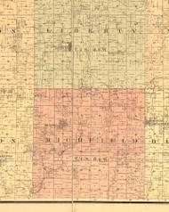 Richfield, Illinois 1889 Old Town Map Custom Print - Adams Co.