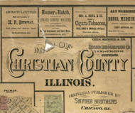 Title of Source Map - Christian Co., Illinois 1872 Old Town Map Custom Print - Christian Co.