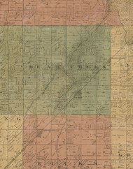 Bear Creek, Illinois 1872 Old Town Map Custom Print - Christian Co.