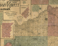 Mt. Auburn, Illinois 1872 Old Town Map Custom Print - Christian Co.