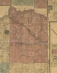 Musquito, Illinois 1872 Old Town Map Custom Print - Christian Co.