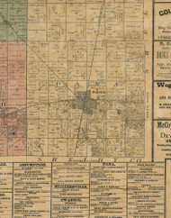 Pana, Illinois 1872 Old Town Map Custom Print - Christian Co.