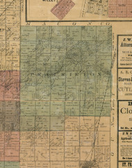 Prairieton, Illinois 1872 Old Town Map Custom Print - Christian Co.