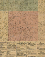 Ricks, Illinois 1872 Old Town Map Custom Print - Christian Co.