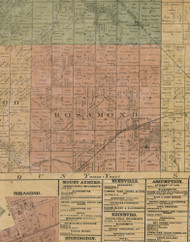 Rosamund, Illinois 1872 Old Town Map Custom Print - Christian Co.