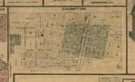 Assumtion Village - Christian Co., Illinois 1872 Old Town Map Custom Print - Christian Co.