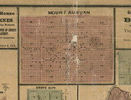 Mt. Auburn Village - Christian Co., Illinois 1872 Old Town Map Custom Print - Christian Co.