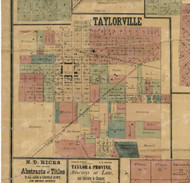 Taylorville Village - Christian Co., Illinois 1872 Old Town Map Custom Print - Christian Co.