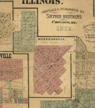Morrisonville - Christian Co., Illinois 1872 Old Town Map Custom Print - Christian Co.