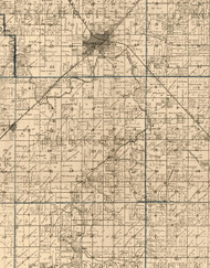 Johnson, Illinois 1893 Old Town Map Custom Print - Christian Co.