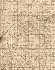May, Illinois 1893 Old Town Map Custom Print - Christian Co.