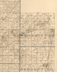 Prairieton, Illinois 1893 Old Town Map Custom Print - Christian Co.