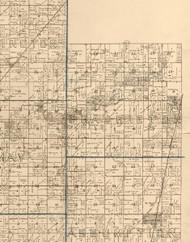 Prairieton, Illinois 1893 Old Town Map Custom Print - Christian Co.